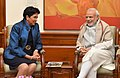 The Chairperson and CEO PepsiCo, Ms. Indra Nooyi calls on the Prime Minister, Shri Narendra Modi, in New Delhi on December 10, 2015 (1).jpg
