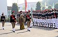 The Chief Minister of Delhi, Smt. Sheila Dikshit inspecting the Guard of Honour, during her visit to DG, NCC republic day camp-2012, in New Delhi on January 14, 2012.jpg