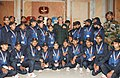 The Chief of Army Staff, General Bipin Rawat with the Students from Udhampur, J&K, in New Delhi on December 14, 2017.jpg