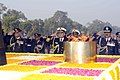 The Chief of Naval Staff, Admiral Nirmal Verma, Chief of Army Staff, General V.K. Singh and the Chief of Air Staff, Air Chief Marshal N.K. Browne pay homage to the martyrs at the Amar Jawan Jyoti, on occasion of the Navy Day.jpg
