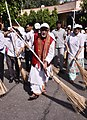 "The Minister of State for Health & Family Welfare, Shri Ashwini Kumar Choubey leading the cleanliness drive during the ""Swachhta hi Sewa"" Abhiyan, at Dr. Ram Manohar Lohia Hospital, in New Delhi on October 02, 2017.jpg"