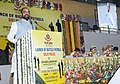 The Minister of State for Home Affairs, Shri Hansraj Gangaram Ahir addressing at the launch of Bicycle Patrols by Delhi Police, in Delhi on May 30, 2017. The Delhi Commissioner of Police, Shri Amulya Patnaik is also seen.jpg