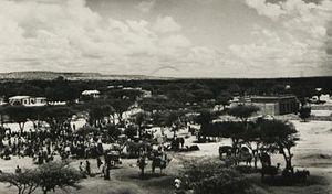 British Somaliland - Market in Hargeisa.