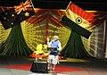 The Prime Minister, Shri Narendra Modi addressing the gathering in the Community Reception, at Allphones Arena, in Sydney, Australia on November 17, 2014 (1).jpg