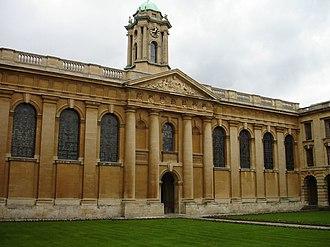 George Clarke - Image: The Queens' College Oxford, quad