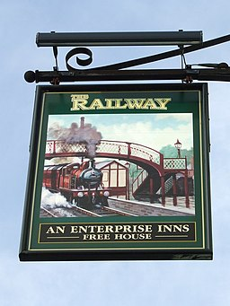 The Railway Pub Sign - geograph.org.uk - 1140361