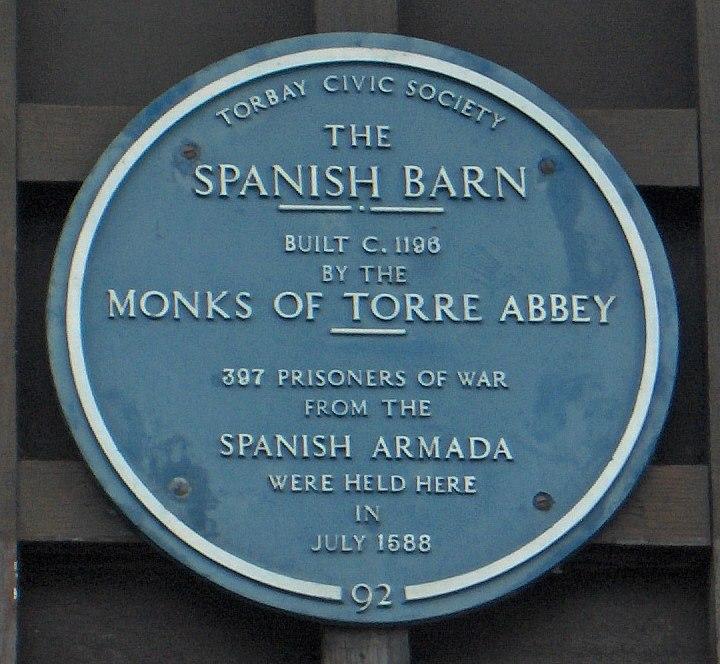 The Spanish Barn plaque, Torquay