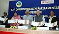The Speaker Lok Sabha and President of CPA, Shri Somnath Chatterjee releases the stamp on the Women Empowerment at the inauguration of the 53rd CWP Conference, in New Delhi on September 24, 2007.jpg