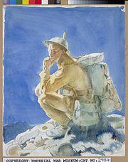 The Thinker on the Butte de Warlencourt Art.IWMART2984
