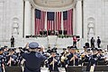 The U.S. Air Force Band plays the national anthem during a Memorial Day ceremony at the Memorial Amphitheater at Arlington National Cemetery in Arlington, Va., May 27th, 2013 130527-D-HU462-262.jpg