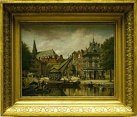 The Weigh-house and the Damstraat in Haarlem