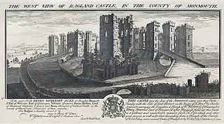 The West View Of Ragland Castle, In The County Of Monmouth