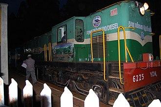 Nilgiri Mountain Railway - A YDM 4 Biodiesel Locomotive