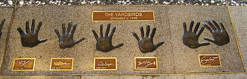 The Yardbirds (1998) - Rock and Roll Hall of Fame handprints (2014 photograph).jpg