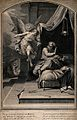 The angel tells Joseph to awaken and take Jesus and Mary to Wellcome V0034599.jpg