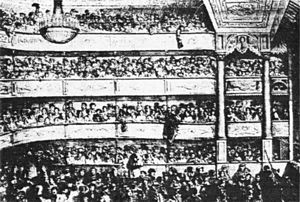 Théâtre des Funambules - The auditorium of the theatre before a performance