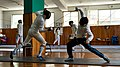 The fencers Stamatis Koutsouflakis and Dimitris Makris at Athenaikos Fencing Club.jpg