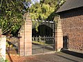 The gates to St Deiniol's church, Hawarden - geograph.org.uk - 1476946.jpg