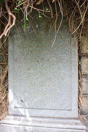 William Swan (physicist) - The grave of Prof William Swan, Warriston Cemetery, Edinburgh