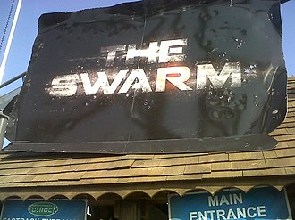 The Swarm (roller coaster) - Image: The swarm, sign
