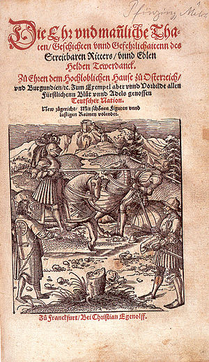Theuerdank - Titlepage of the 1553 edition