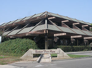 Thomas Guide - The former Thomas Bros. building, 17731 Cowan, Irvine, CA.