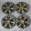 Thomas Sergent Oyster plates, c 1880, coloured glazes, Palissy style.jpg