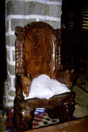 Mata Utu - Throne in Matâ'Utu Cathedral