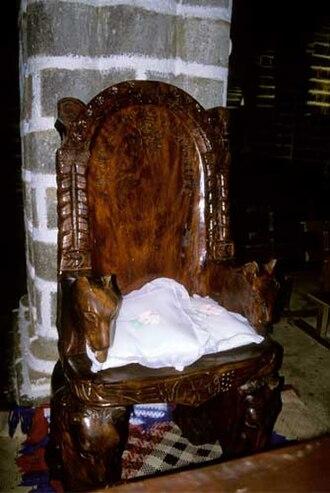 Mata Utu - Throne in Matâ'Utu Cathedral