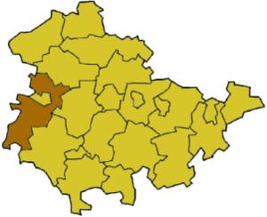 Wartburgkreis - Image: Thuringia wak