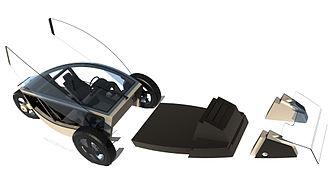 OScar - Exploded view: 3 wheeler