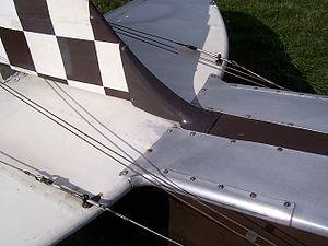 Aircraft flight control system - de Havilland Tiger Moth elevator and rudder cables