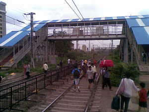Footbridge - Tilak Nagar Station in Mumbai