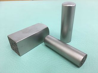 Seal (East Asia) - Titanium seals made in Japan. A square seal for corporations, a seal for bank accounts(middle), a general use seal(small),