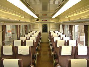 Tobu 200 series - Image: Tobu 200 206F inside