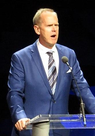 Tom Holmoe - Tom Holmoe speaking at BYU in 2017