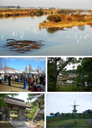 Tome, Miyagi - upper:Swans on Hasama River middle:Japanese number one hatto Festival. Chacha world Ishikoshi lower: Korin-ji, Naganuma footopia park