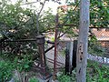 Top of staircase at former Somerville Junction station, July 2015.JPG