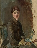 Toulouse-Lautrec - Анри де Тулуз Лотрек, Портрет младе жене, 1883.jpg