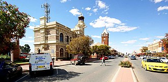 Broken Hill - Broken Hill Town Hall and Post Office