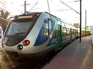 Train electrique, SNCFT, Sousse 2012