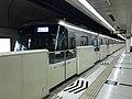 Train for Nakasu-Kawabata Station leaving Hakozaki-Miyamae Station.jpg