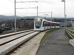 Tram heading into Edinburgh (geograph 3765525).jpg