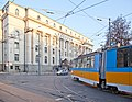 Tram in Sofia near Palace of Justice 2012 PD 030.jpg