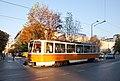 Tram in Sofia near St Nedelya Church 2012 PD 012.jpg