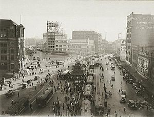 Railway Square, Sydney - Railway Square tram interchange early 1900s