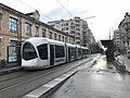 Tramway près du centre Berthelot, Lyon.JPG