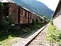 Tren abandonado en la Estacion Internacional de Canfranc (2).jpg