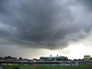 2005 Ashes series - Rain stopped play in the first day's evening session