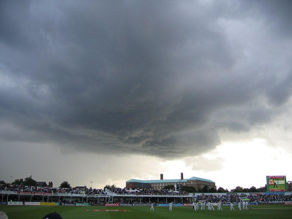 Trent Bridge rain clouds, 26 Aug 2005